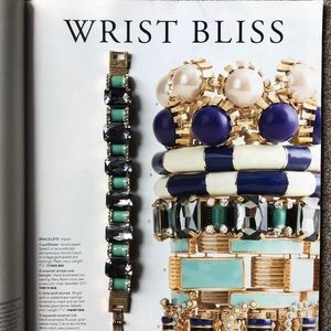 J. Crew Stone Enamel and Crystal Bracelet